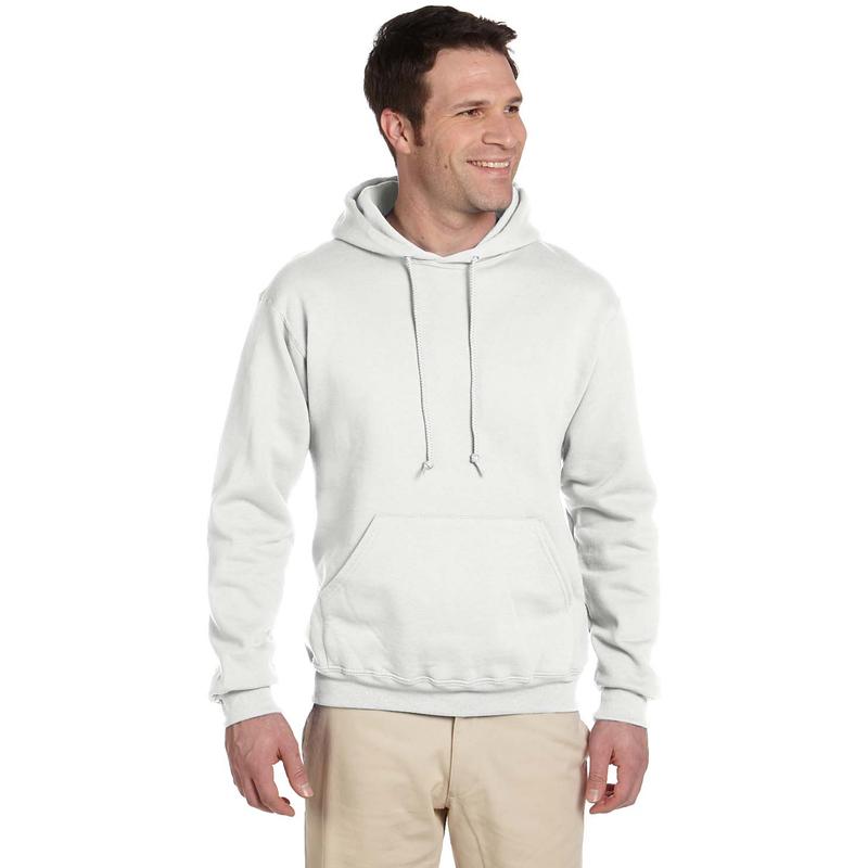 9.5 oz., 50/50 Super Sweats? NuBlend? Fleece Pullover Hood