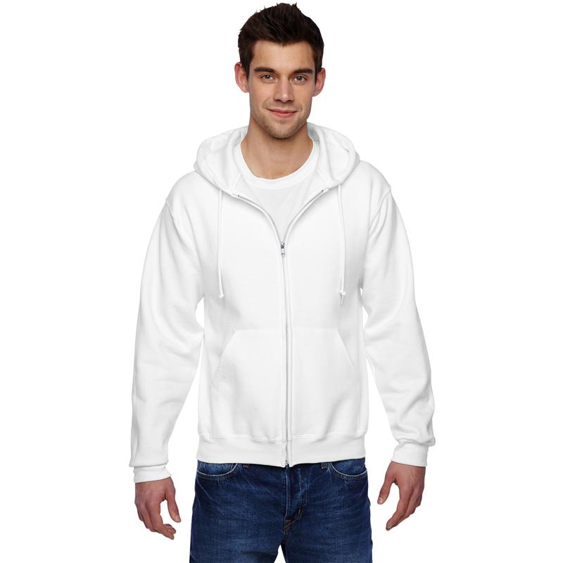 9.5 oz., 50/50 Super Sweats? NuBlend? Fleece Full-Zip Hood