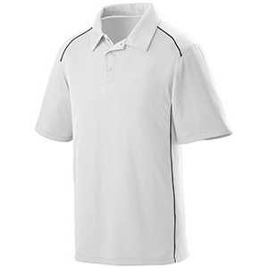 Adult Wicking Polyester Sport Shirt with Contrast Piping