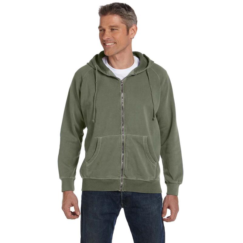 10 oz. Garment-Dyed Full-Zip Hood
