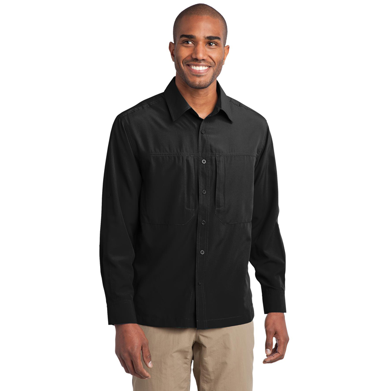 Eddie Bauer ®  - Long Sleeve Performance Travel Shirt. EB604