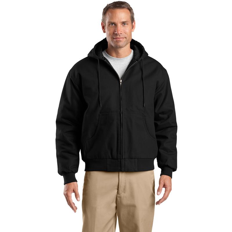 CornerStone ®  - Duck Cloth Hooded Work Jacket.  J763H