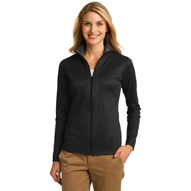 Port Authority ®  Ladies Vertical Texture Full-Zip Jacket. L805