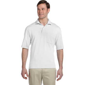 5.6 oz., 50/50 Jersey Pocket Polo with SpotShield?