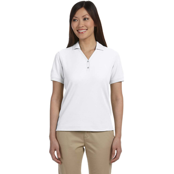 Ladies' Pima Pique Short-Sleeve Y-Collar Polo