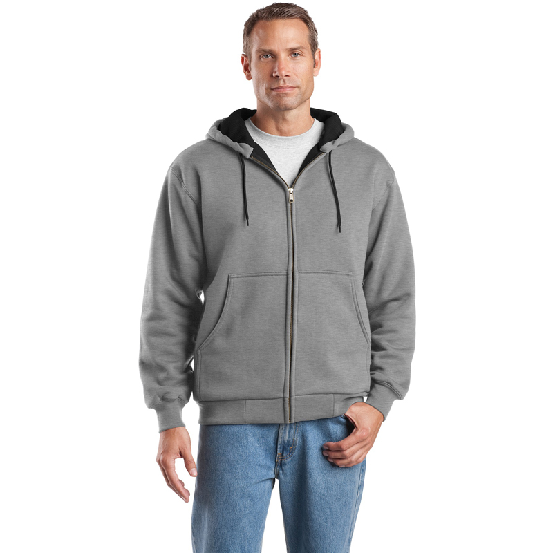 CornerStone ®  - Heavyweight Full-Zip Hooded Sweatshirt with Thermal Lining.  CS620