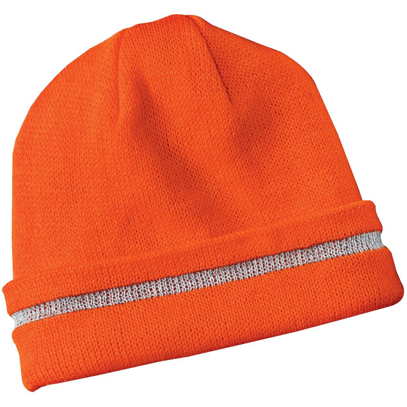 CornerStone ®  - Enhanced Visibility Beanie with Reflective Stripe.  CS800