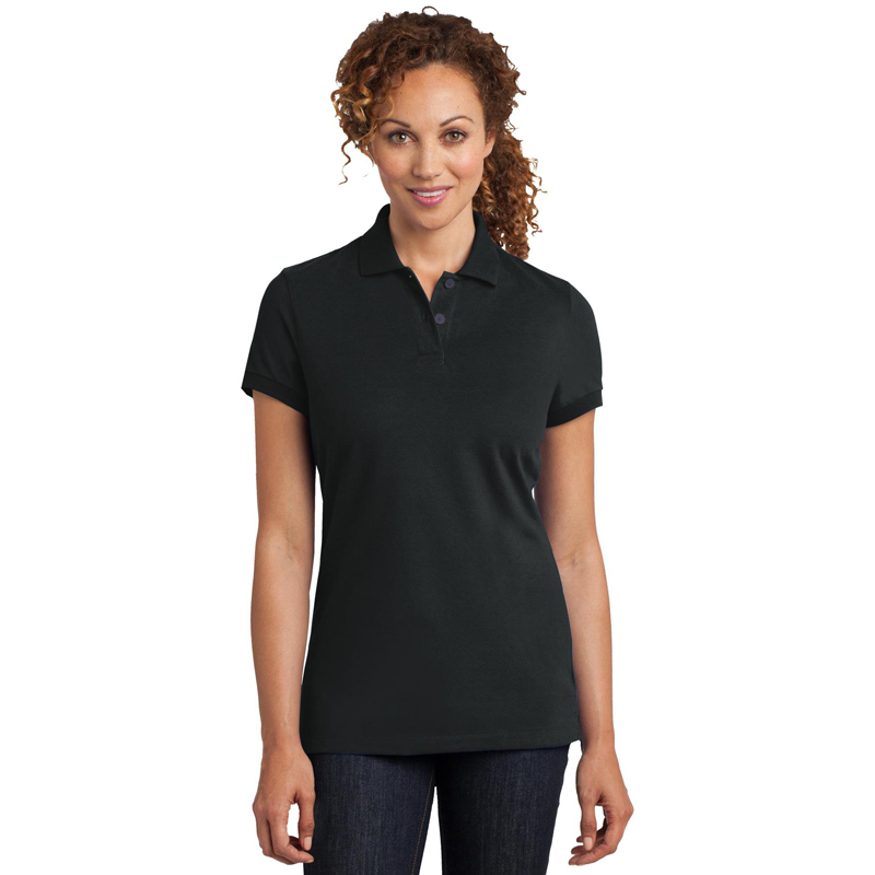 District Made ®  Ladies Stretch Pique Polo. DM425