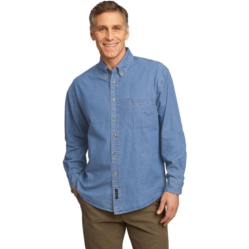 Port & Company ®  - Long Sleeve Value Denim Shirt. SP10